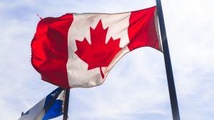 The Canadian flag during daylight.