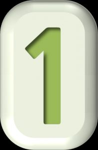 A green number 1 in a white rectangle, representing movers Cambridge Ontario.