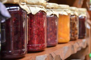 Jars with jams.