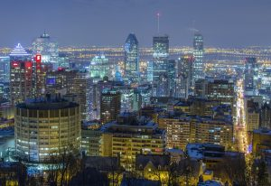 Montreal during the night.