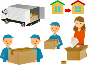 The process of packing and delivering items
