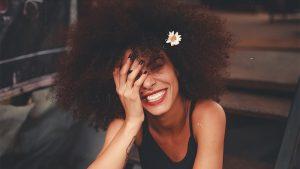 A nice girl smiling