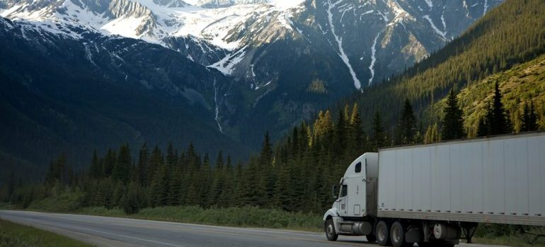 A moving truck of furniture movers Hamilton