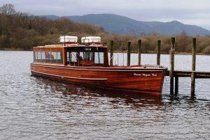 A tour boat.