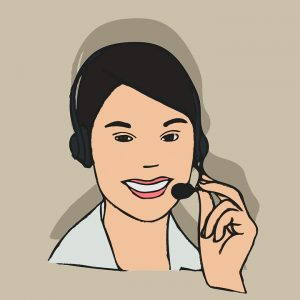 A call center lady