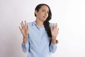 A woman disagreeing
