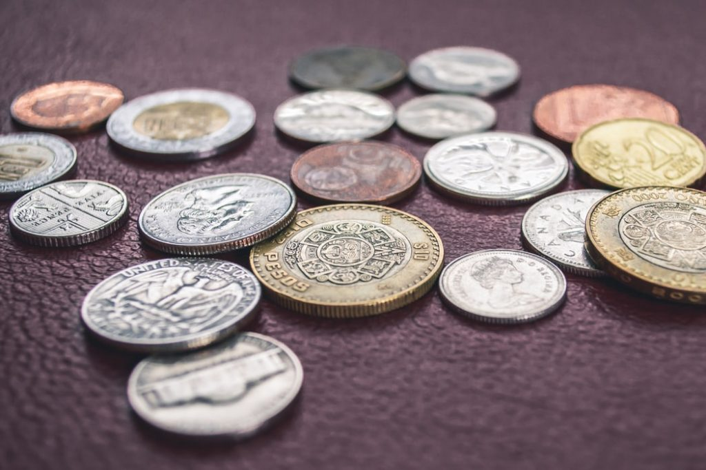 Various coins.