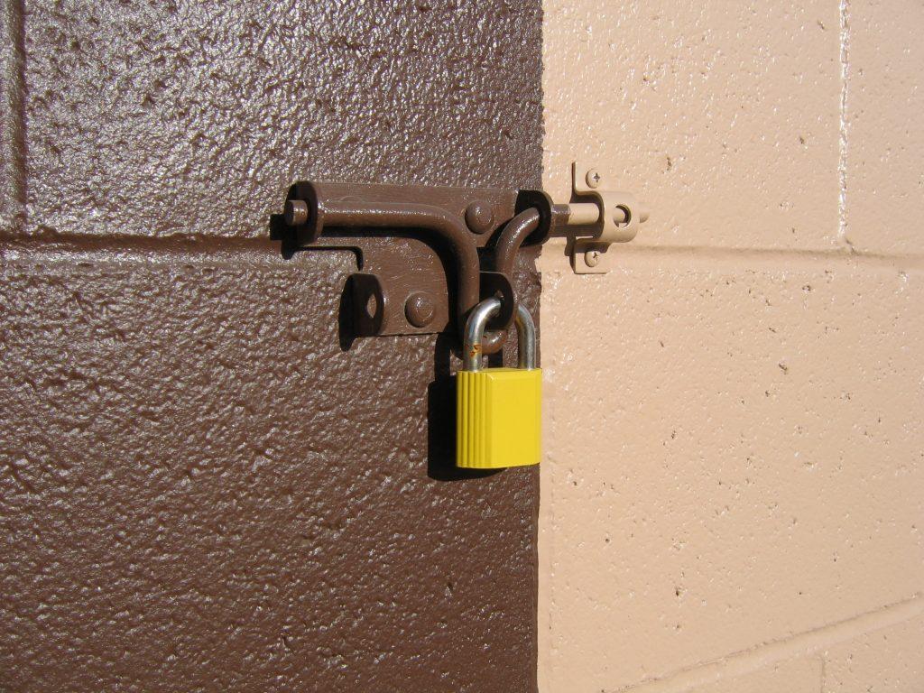 a padlock