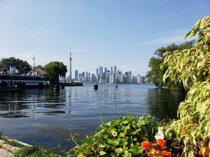 view toward Toronto from lake Ontario