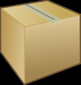 a large cardboard box
