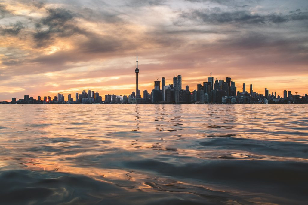 view of toronto from the water