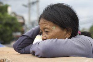 A sad grandma