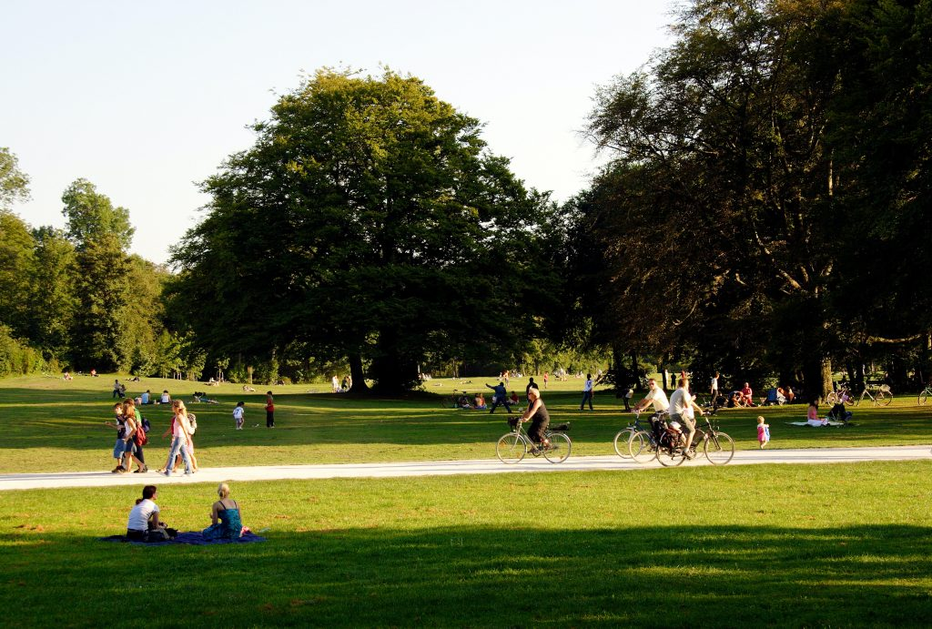 people in a park exploring things to do in Brampton