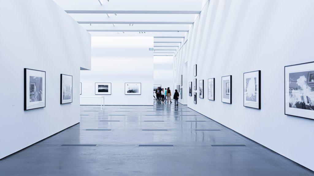people in a art gallery