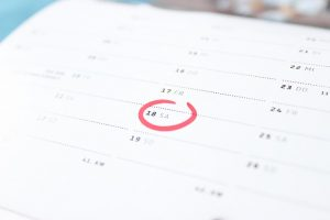 a calendar - prepare when moving to Mississauga