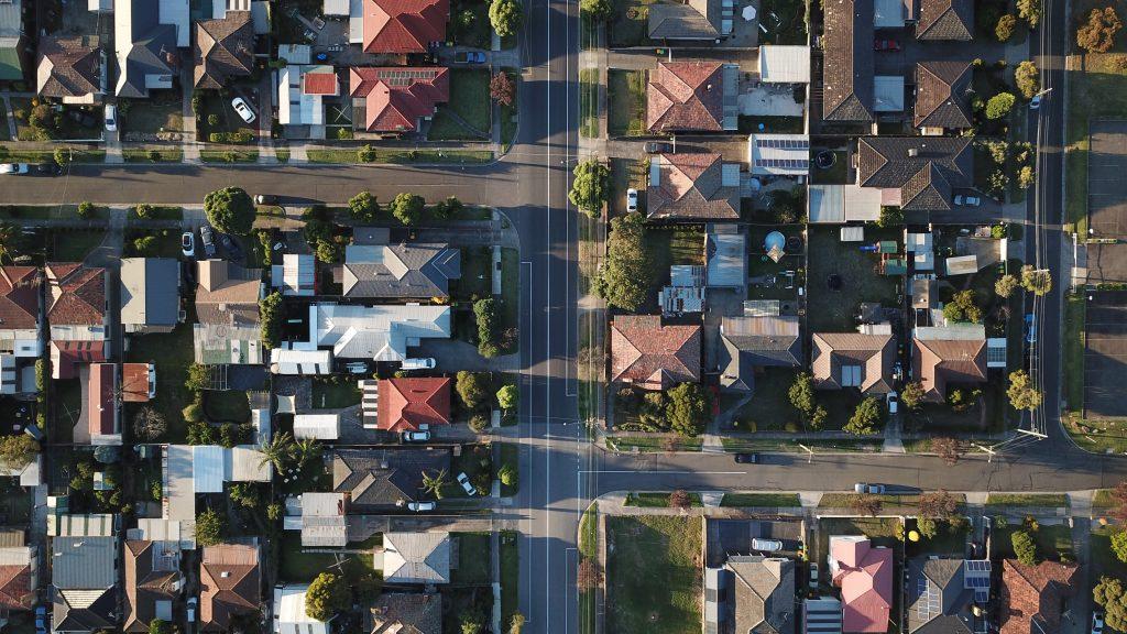 aerial view of Etobicoke suburb