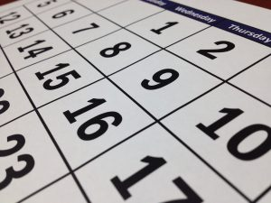a calendar and a date when you are Moving your business to Richmond Hill