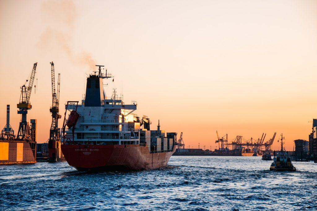 A freight ship