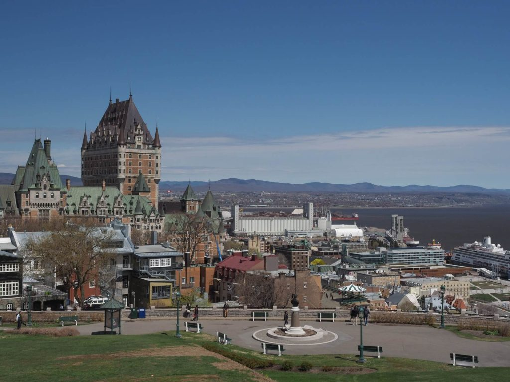 View of Chateau Frontenac in Quebec City