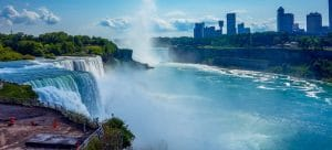 view of Niagara falls you will see once you choose between Eastern or Western Canada