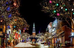Burlington at night