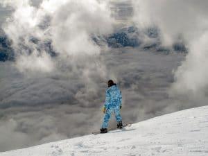snowboarding as one of the winter fun in the Burlington