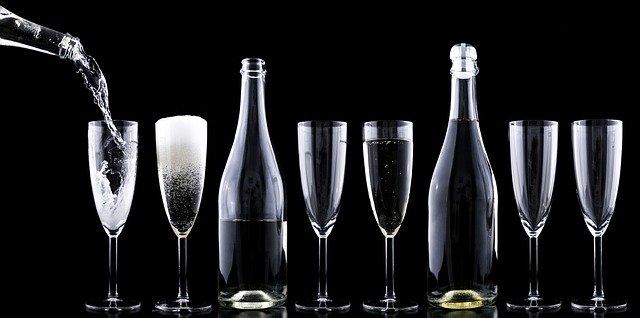 glasses and bottles