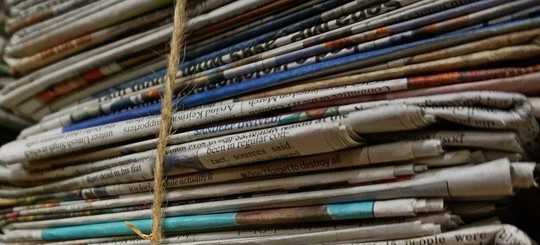 stockpiled newspapers