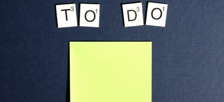 "Picture of a ""to do"" list"