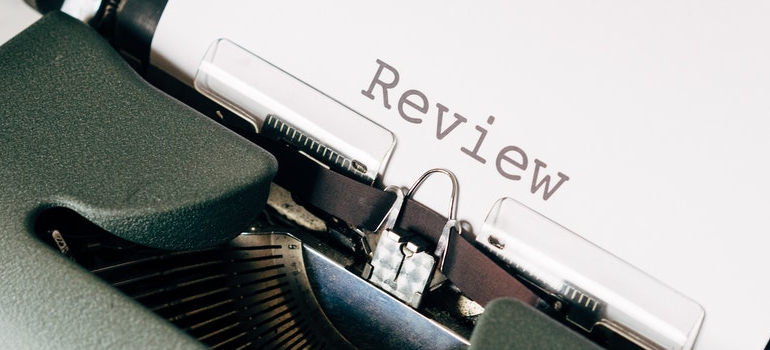 a paper that says reviews