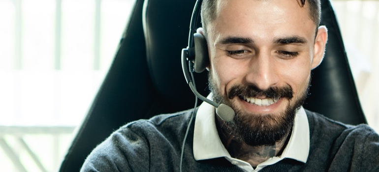 A customers service person