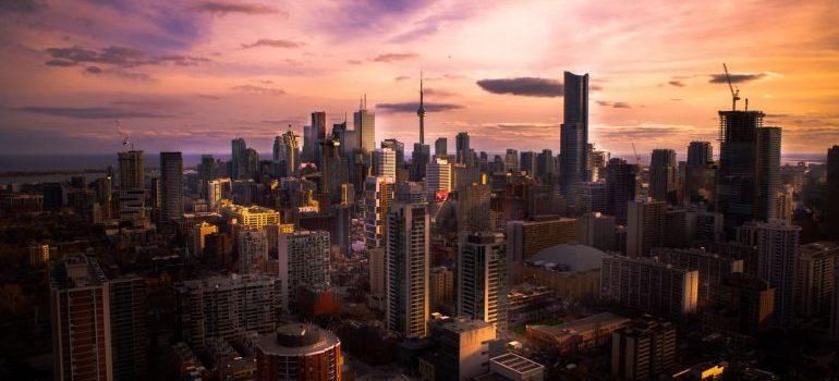 Toronto skyline during summer