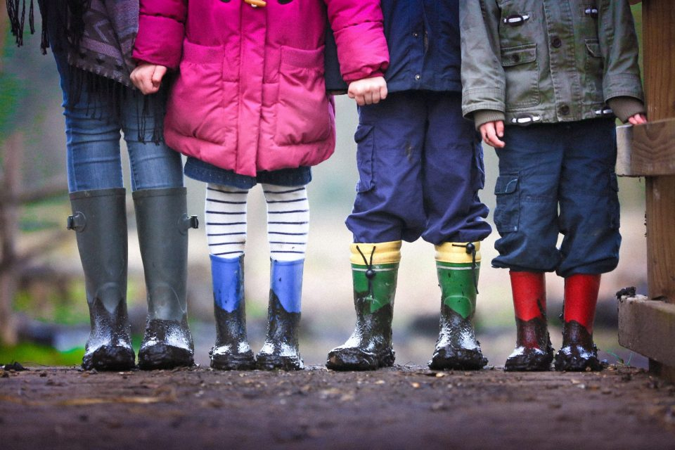 kids standing together