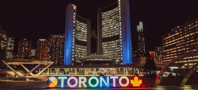 Places to consider when moving to Canada would be Toronto during the night