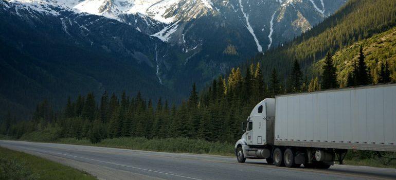 Burlington movers' trucks