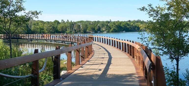 bridge on the lake