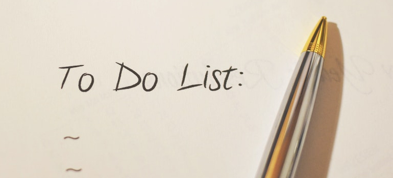 a to do list you need to write before Moving from Hamilton to Mississauga