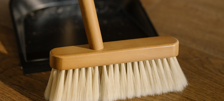 broom you can use to clean your home before you settle after moving to Burlington