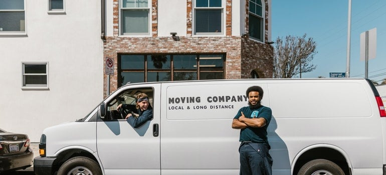 two movers and their van