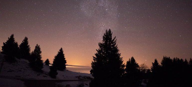 A stary night sky