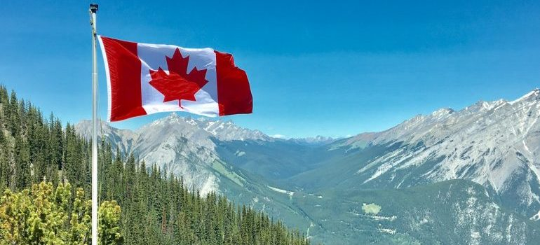 A picture of a Canadian flag