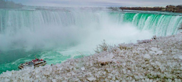 Niagara Falls during a winter vacation