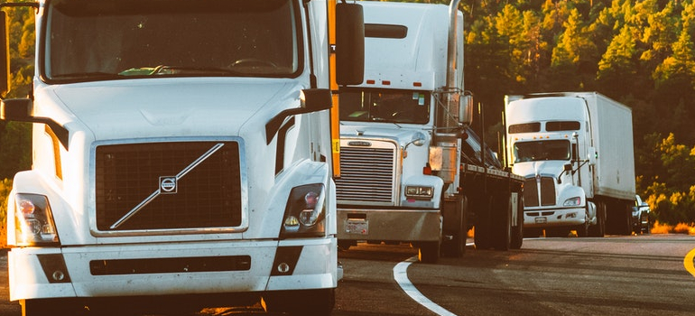 image of moving trucks