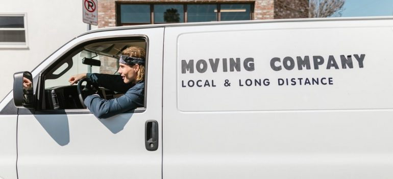 Moving van and a delivery guy