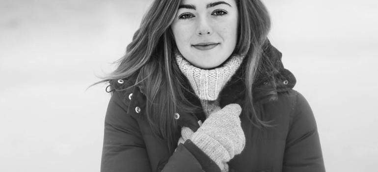 a girl in winter jacket